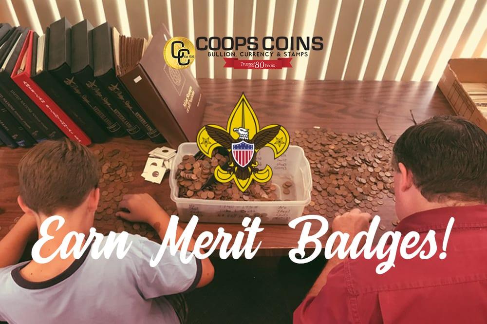 Earn merit badges